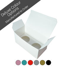 Double Cupcake Box - Assorted Colours (Minimum Order 100 units)