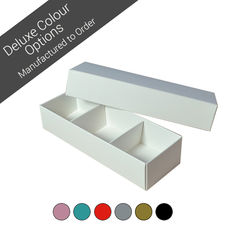3 Macaroon & Choc Box removable insert - Assorted Colours (Minimum Order 100 units) (Macaroon lies flat)
