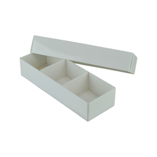 3 Macaroon & Choc Box - Smooth White with removable insert  (Macaroon lies flat)