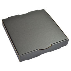 Premium Pizza Box 9 Inch One Piece - Kraft Black Double Sided