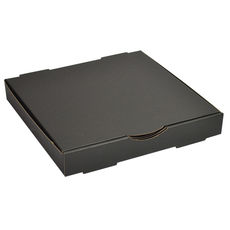 Premium Pizza Box 11 Inch One Piece - Kraft Black Double Sided
