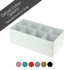 16 Pack Chocolate Box Base & Clear Lid - Assorted Colours (Minimum Order 100 units)