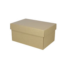 Corrugated Shoe Box 150mm High - Kraft Brown
