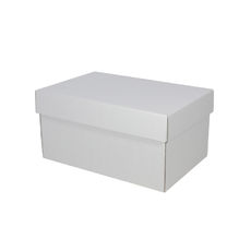 Corrugated Shoe Box 150mm High - Kraft White