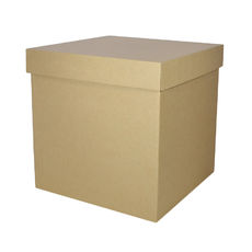 Gift Box 300mm Cube - Kraft Brown