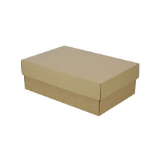Corrugated Shoe Box 100mm High - Kraft Brown