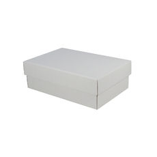 Corrugated Shoe Box 100mm High - Kraft White