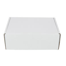 One Piece Postage Box 8349 with Divider Insert - Kraft White