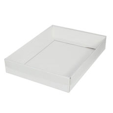 A4 Cardboard Gift Box - White 50mm High with Clear Lid