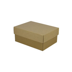 A5 Cardboard Gift Box - Brown 100mm High - Base & Lid