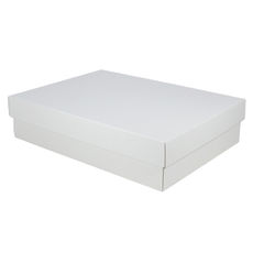 A3 Cardboard Gift Box - White 100mm High - Base & Lid