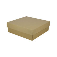 Large Square Cardboard Gift Box - Brown 100mm High