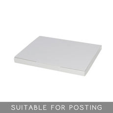 Book Box Twist Mailer 7 - Kraft White