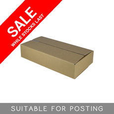 Cardboard RSC Shipping Carton - Small Express Post - Suits 500gram parcel post satchel