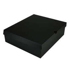 One Piece Boot & Shoe Box with Ventilation Pull Hole Kraft Black