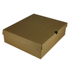 One Piece Boot & Shoe Box with Ventilation Pull Hole Kraft Brown