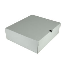 One Piece Boot & Shoe Box with Ventilation Pull Hole Kraft White