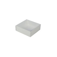 Square 82mm Gift Box with Clear Lid - Smooth White