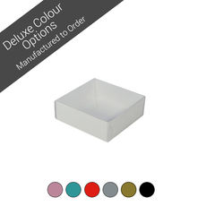 Square 82mm Gift Box with Clear Lid -  Assorted Colours (Minimum Order 100 units)