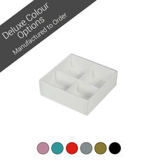 4 Pack Chocolate Box Base & Clear Lid - Assorted Colours (Minimum Order 100 units)