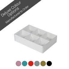 6 Pack Chocolate Box Base & Clear Lid - Assorted Colours (Minimum Order 100 units)