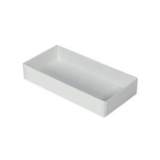 Rectangle 8 Gift Box with Clear Lid - Smooth White