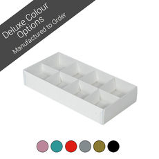 8 Pack Chocolate Box Base & Clear Lid - Assorted Colours (Minimum Order 100 units)