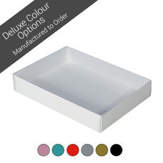 Rectangle 12 Gift Box with Clear Lid - Assorted Colours (Minimum Order 100 units)