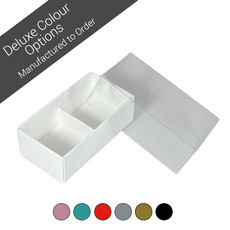 2 Pack Chocolate Box Base & Clear Lid - Assorted Colours (Minimum Order 100 units)
