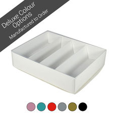 24 Macaron Box with insert & Clear Lid - Assorted Colours (Minimum Order 100 units)