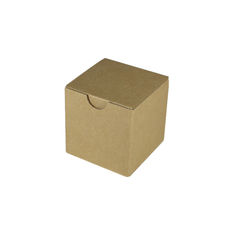 Candle Box 80/80 - Brown Cardboard