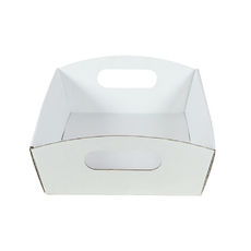 Small Hamper Tray White Cardboard