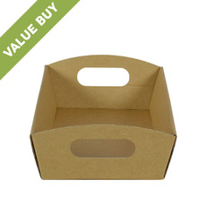 Mini Hamper Tray Brown Cardboard