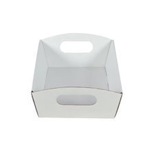 Mini Hamper Tray White Cardboard