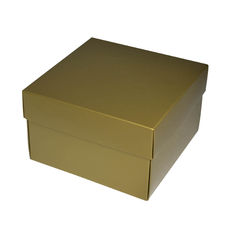 NOW $3.00ea - 50 x Square Medium Gift Box - Gloss Gold