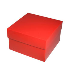 Square Medium Gift Box - Gloss Red