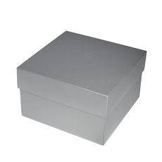 Square Medium Gift Box - Gloss Silver