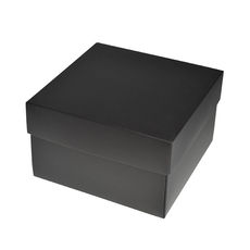 Square Medium Gift Box - Matt Black