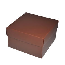 NOW $3.00ea - 26 x Square Medium Gift Box - Matt Chocolate