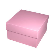 Square Medium Gift Box - Matt Pink