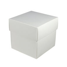 Square Midi Gift Box - White