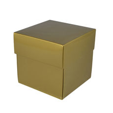 Square Midi Gift Box - Gloss Gold