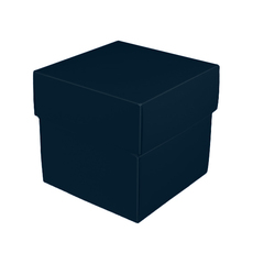 Square Midi Gift Box - Gloss Navy Blue