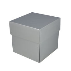SALE $2.00ea - 85 x Square Midi Gift Box - Gloss Silver