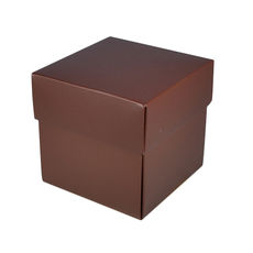 Square Midi Gift Box - Matt Chocolate