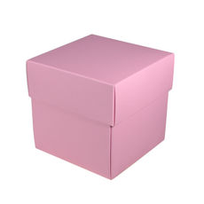 Square Midi Gift Box - Matt Pink