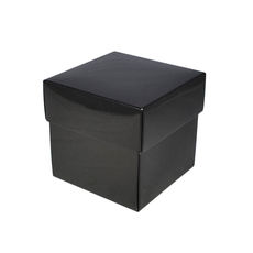 Square Small Gift Box - Gloss Black