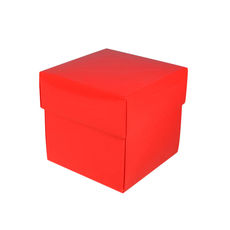 Square Small Gift Box - Gloss Red