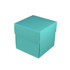 Square Small Gift Box - Matt Blue