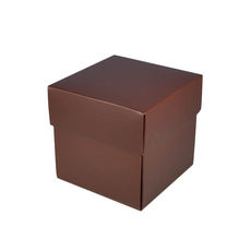 Square Small Gift Box - Matt Chocolate